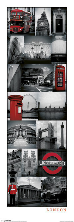 POSTER M PY MCPP 60189 LONDON COLLAGE