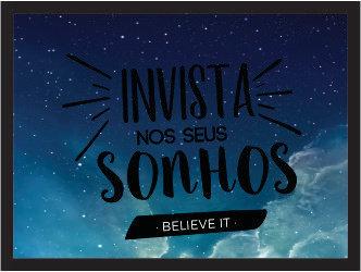 Quadro Cofre - Invista | Believe It