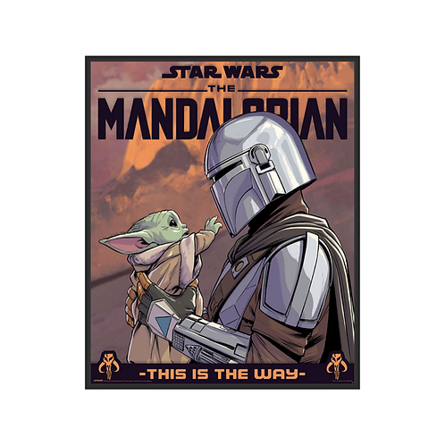 Poster M - Star Wars: The Mandalorian (Hello Little One)