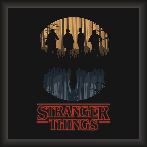 Quadro Decorativo - Stranger Things (Darkside)