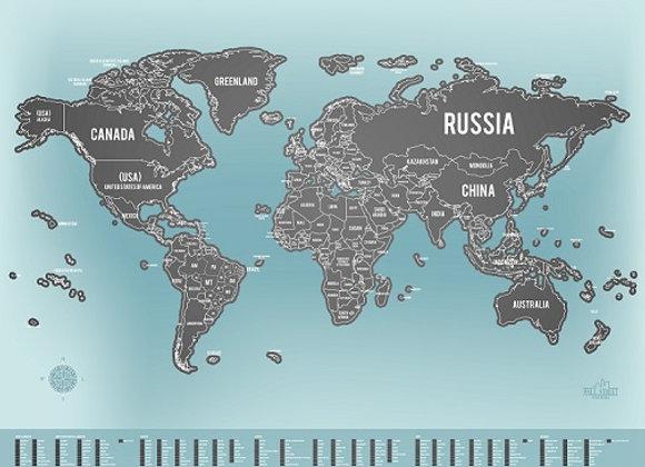 Mapa de Raspar - Claro