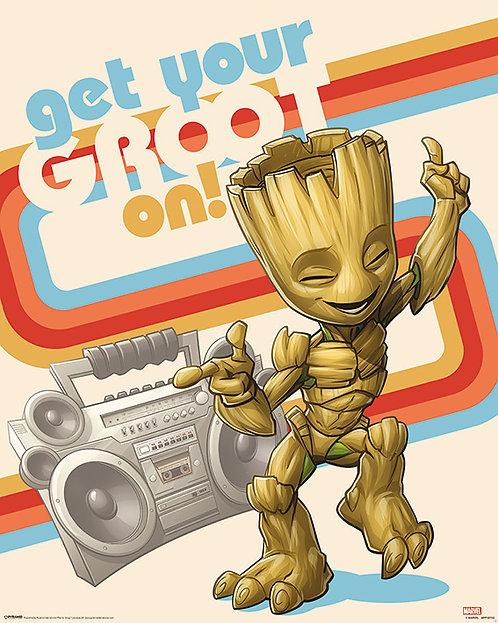 Pôster M - Guardiãs Galáxia   Groot On