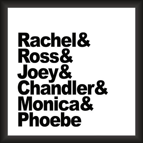 Quadro Decorativo - Friends (Rachel & Ross)