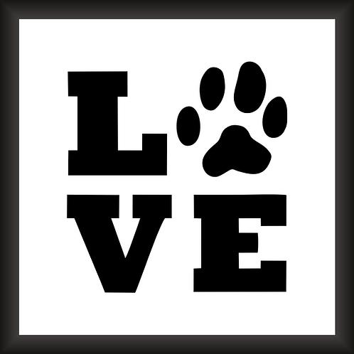 Quadro Decorativo - Love Pet