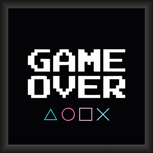 Quadro Decorativo - Game Over