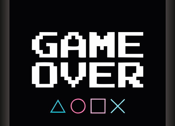 Quadro Decor - Game Over