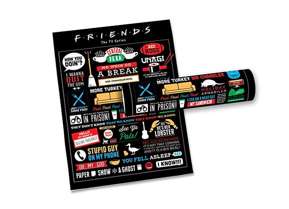 Pôster M - Friends | Frases