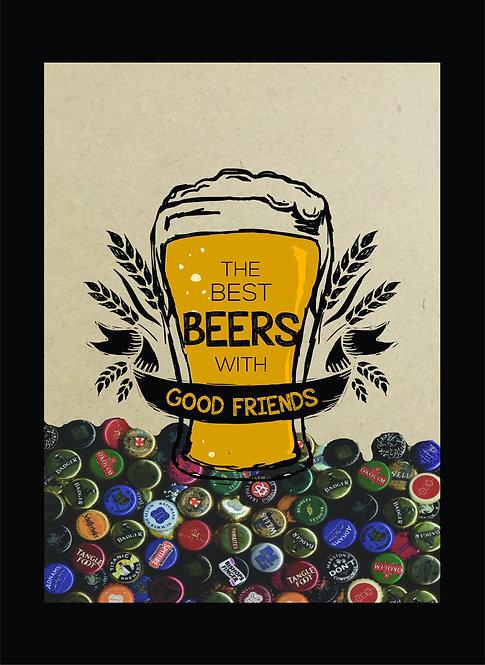 Quadro Tampinha - Best Beer