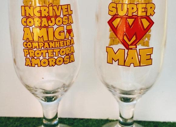 Conjunto Taça 300ml - Super Mae
