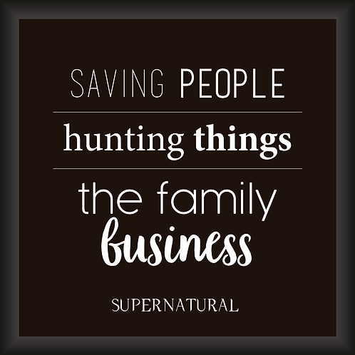 Quadro Decorativo - Supernatural (Saving People)