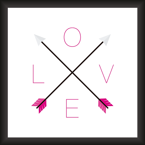 Quadro Decorativo - Love Pink
