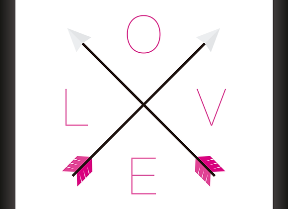 Quadro Decor - Love Pink