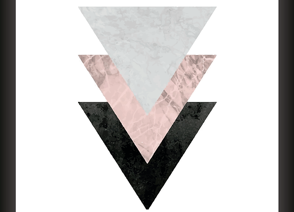 Quadro Decor - 3 Triângulos