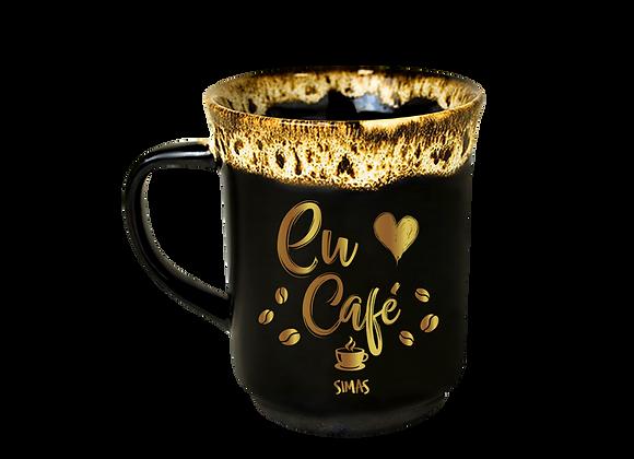 Caneca Porcelana Eu Amo Café