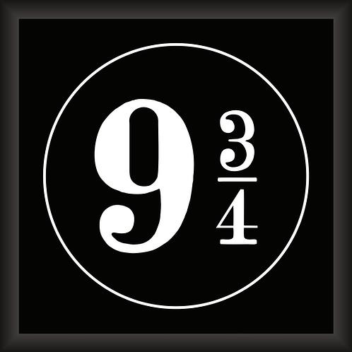 Quadro D - Harry potter 3/4 Preto