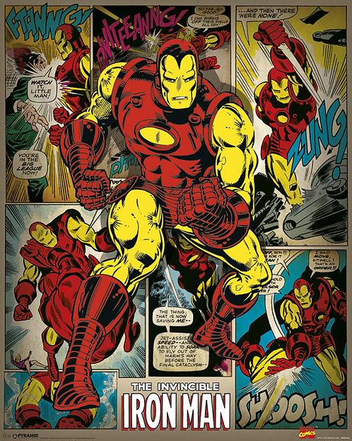 Pôster M - Homem de Ferro   Retrô