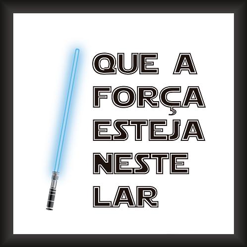 Quadro Decorativo - Star Wars (Que a Força)
