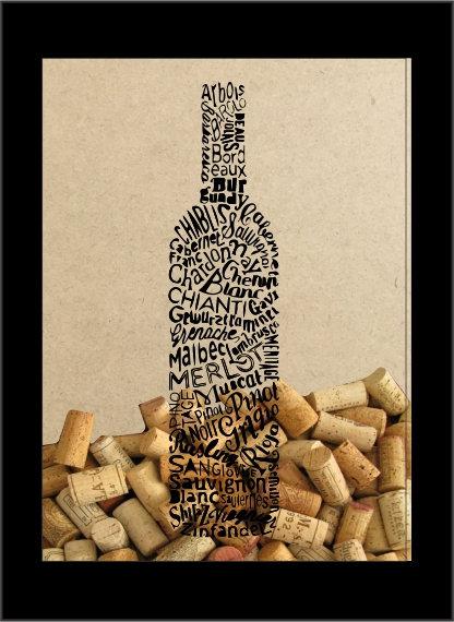 Quadro Vinho - Garrafa