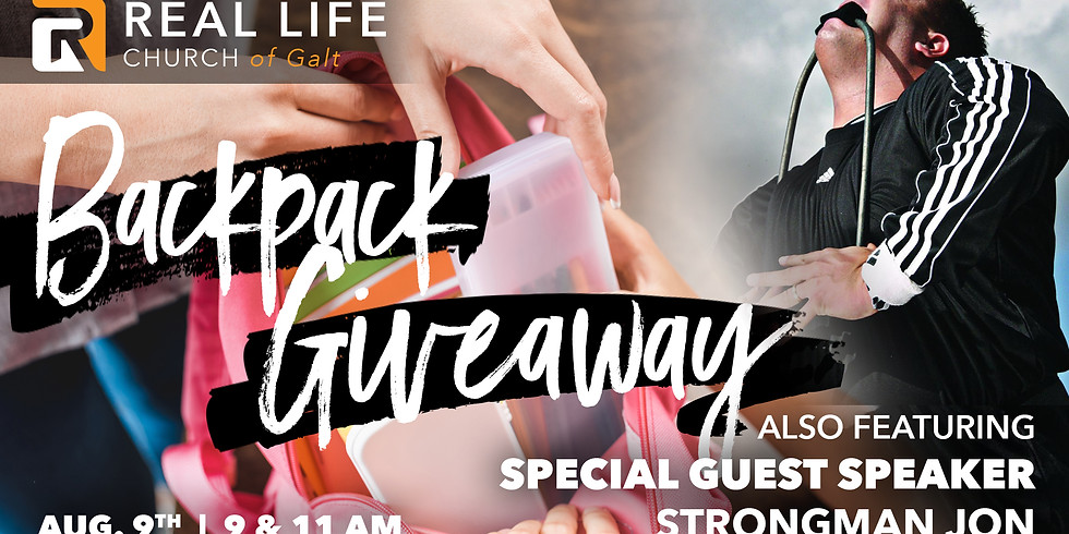 Backpack Giveaway - 11 AM
