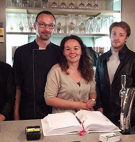 L'équipe du restaurant les caudalies à Questembert 56230