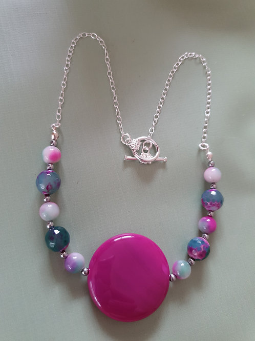 Green & Fuchsia Necklace