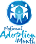 National Adoption Month logo: Take it, share it, use it.