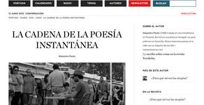 La cadena de la poesía instantánea, por Alejandro Panés.