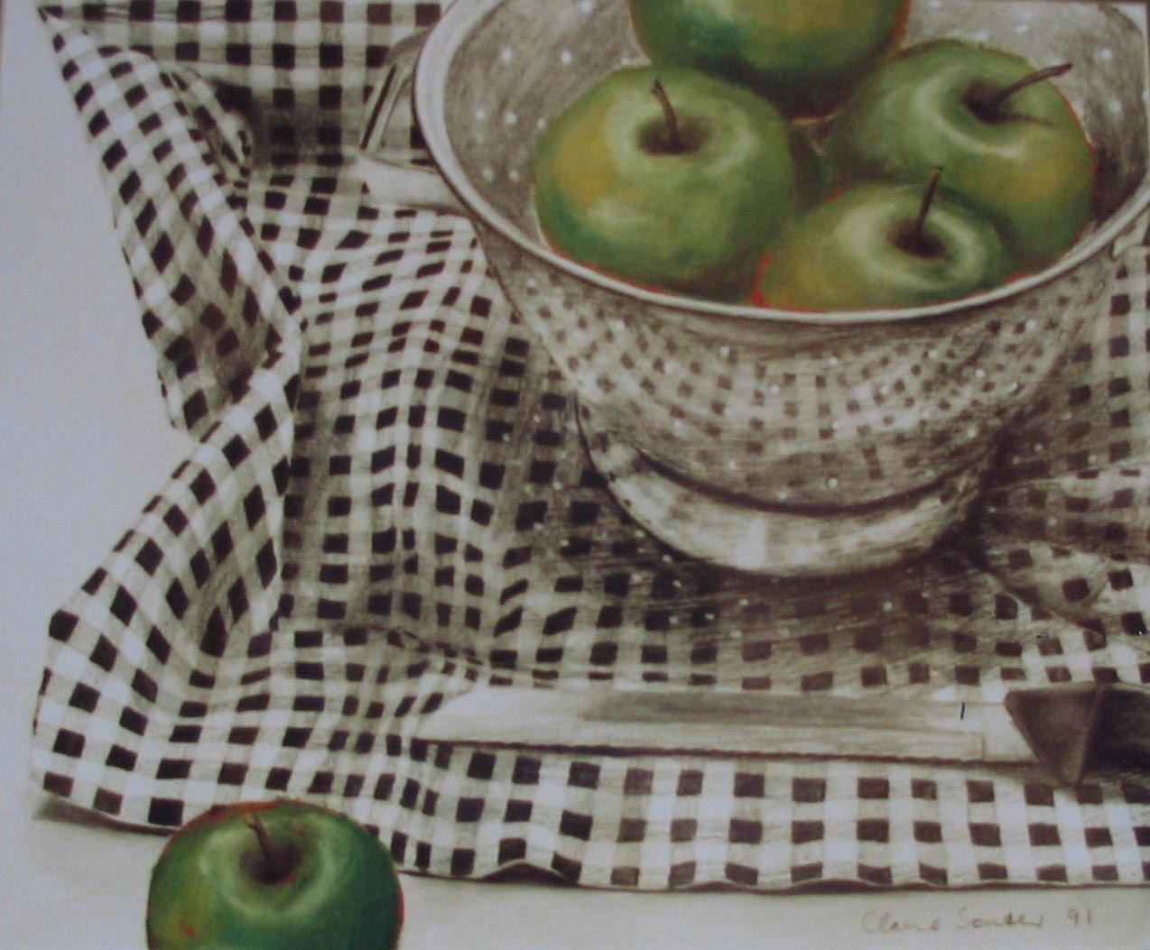 apples and colander