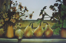 pears on sill