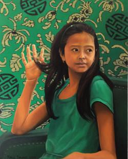 Tessa in green
