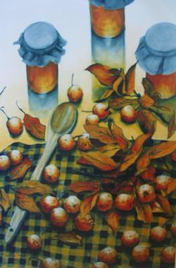 honey and wild apples