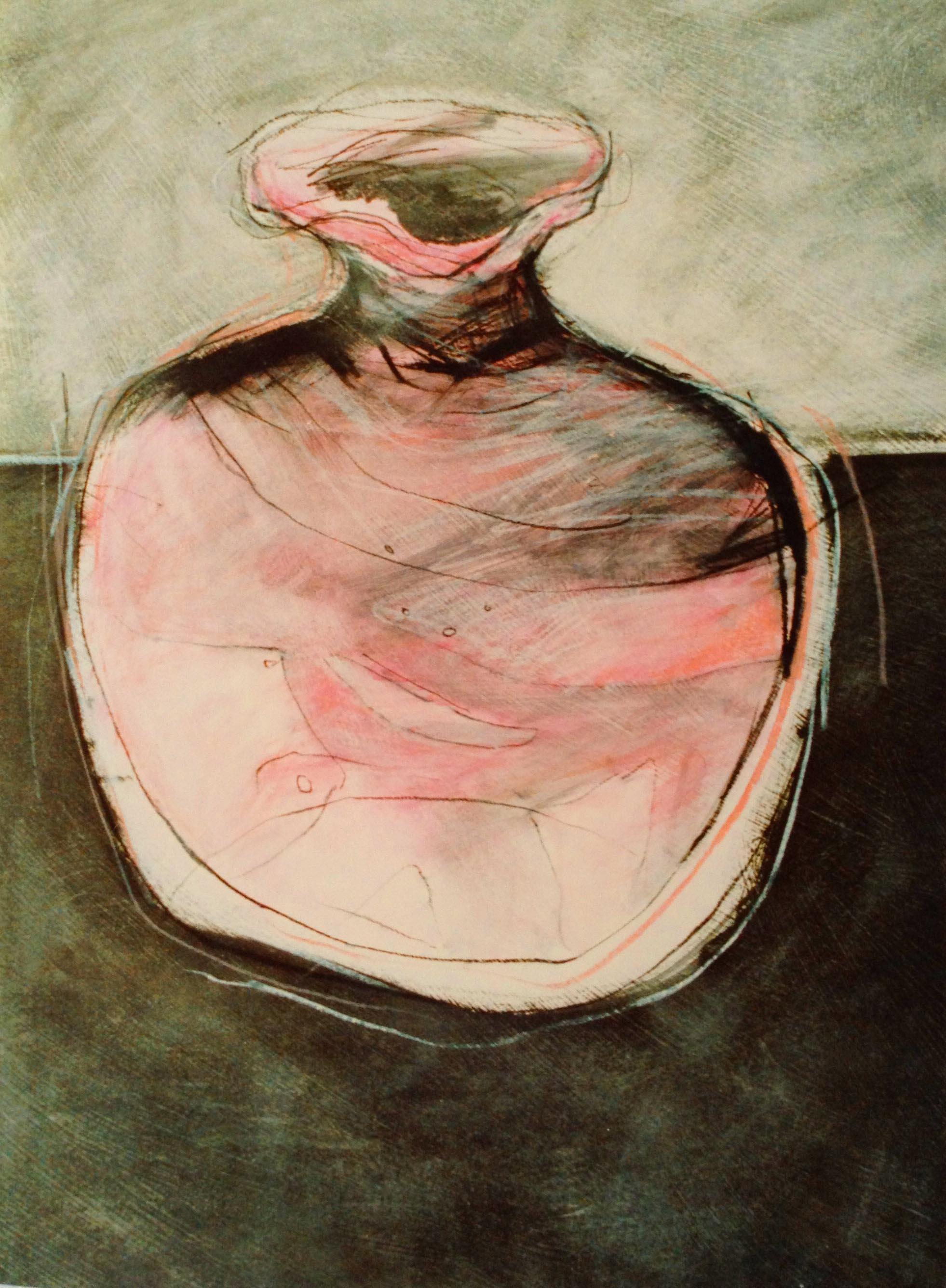 pink vase