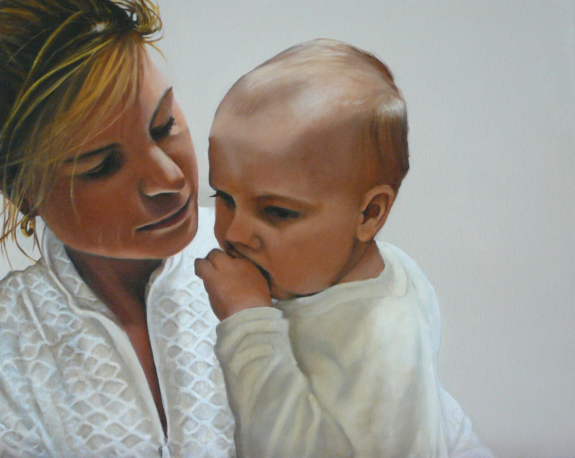 Carmel and baby Jaden