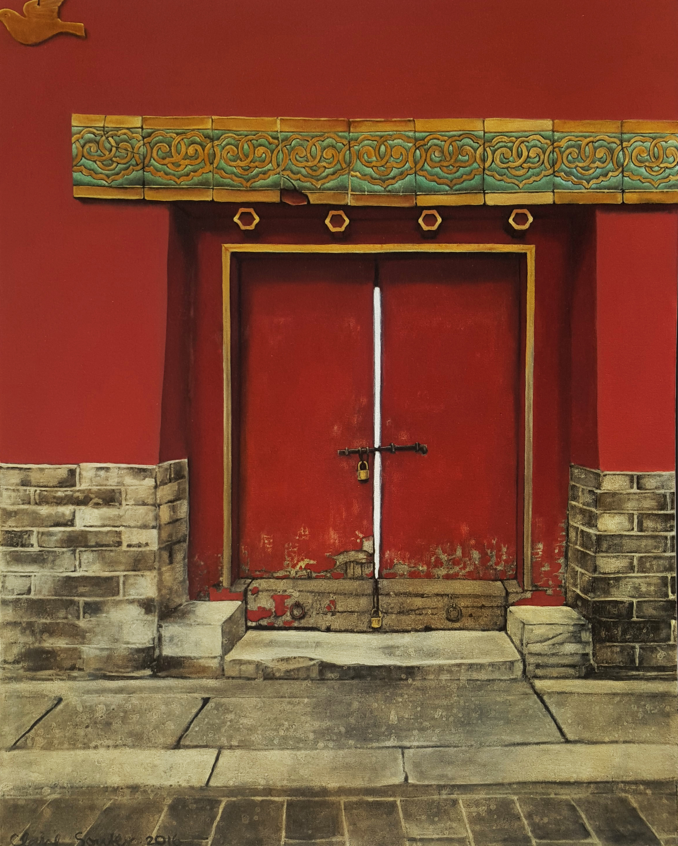 locked door in the Forbidden City