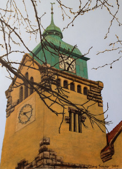 old church tower in Qingdao