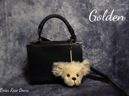 Large bear keyring - Golden