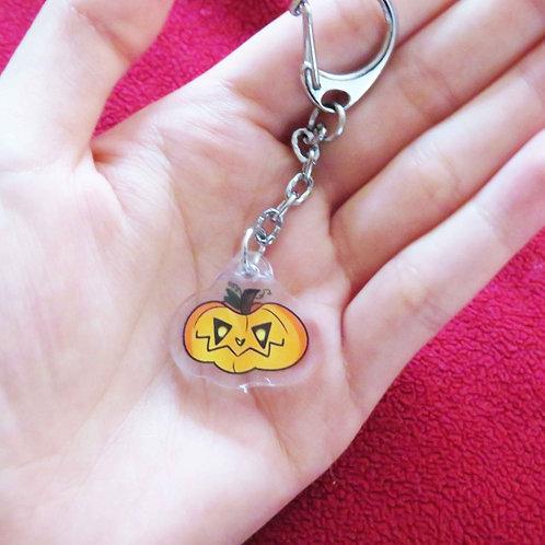 Spoopy Pumpkin Keychain Charm!