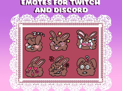 Twitch/Discord Cute Bunny Emotes