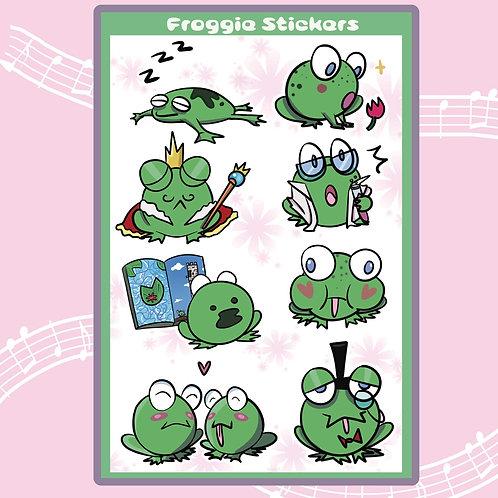 Froggie Sticker Sheet!!!!