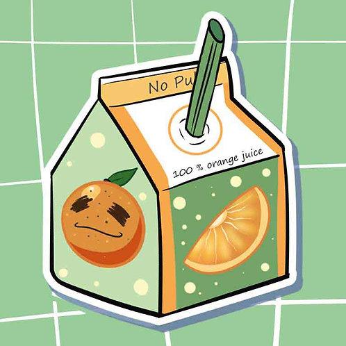 Orange Juicy Juice Box Sticker!