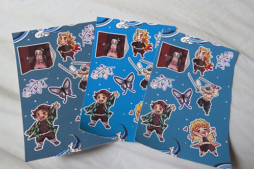 Demon Anime Sticker Sheet!* MISPRINT* *MAJOR SALE*
