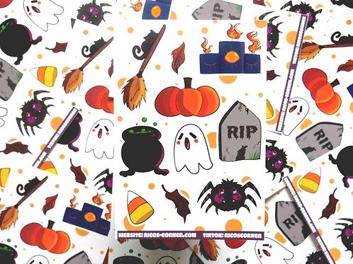 Spooky Scary Sticker Sheet!!