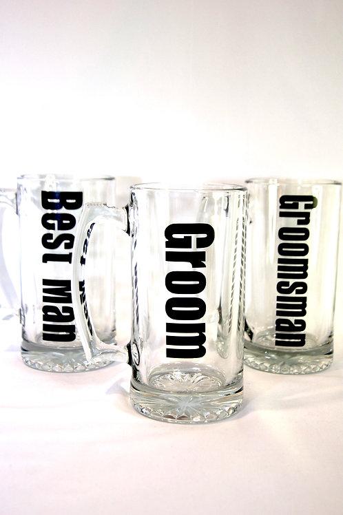 Groom / Groomsmen Beer Mugs (single)