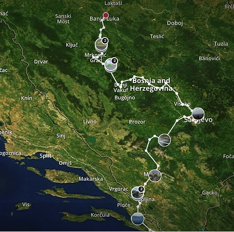 7 day Road Trip Itinerary in Bosnia Herzegovina Kraze by Tag