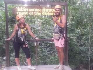 Ziplining in Pattaya, Thailand