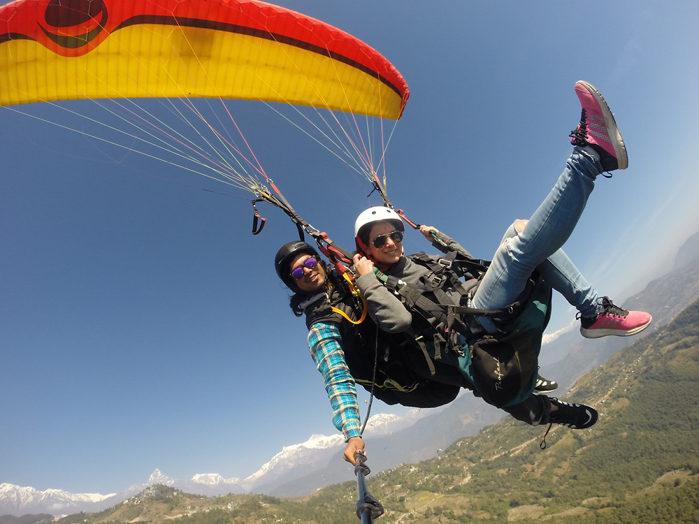 things to do in pokhara, paragliding