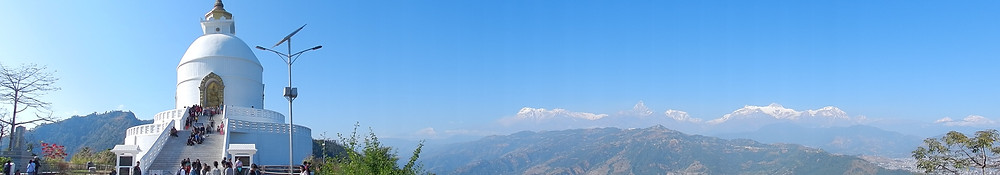 things to do in pokhara peace stupa