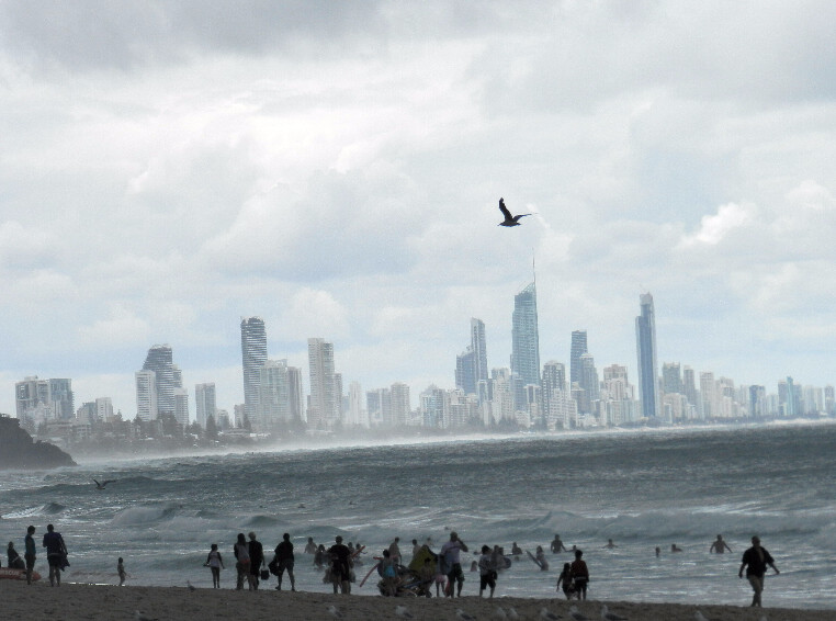 Surfers Paradise on a cloudy day