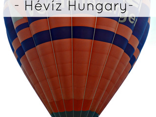 Gliding over Hévíz in a Hot Air Balloon