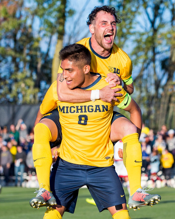 Michigan Soccer Celebration